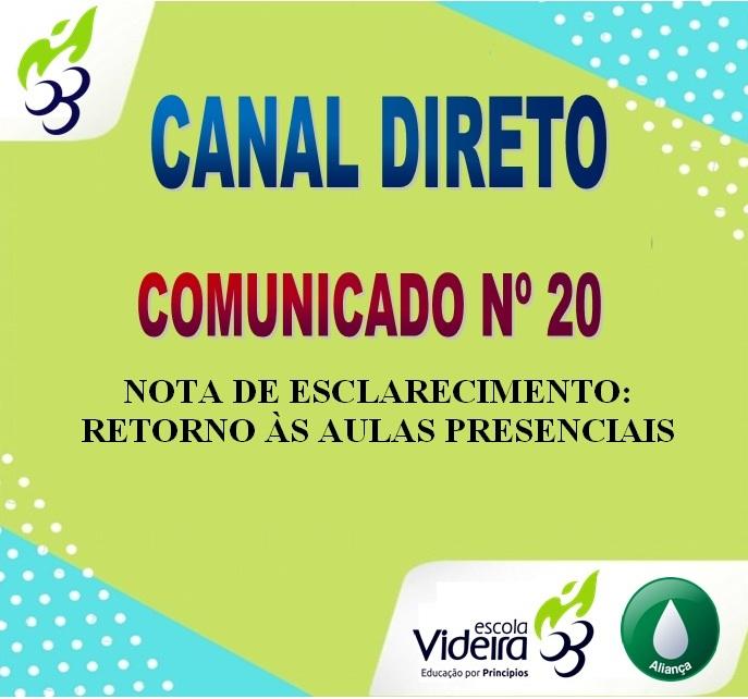 COMUNICADO Nº 20